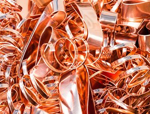 copper pipes to be recycled
