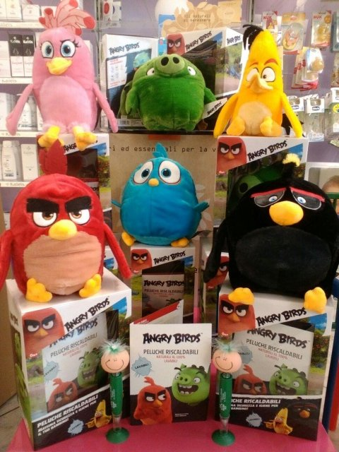 pupazzi angry birds