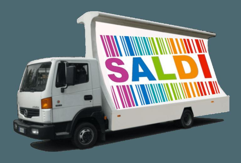 camion vela per saldi e promozioni