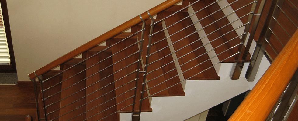 scale legno e acciaio