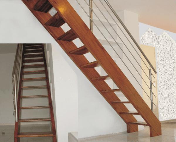 Scale in legno e acciaio inox
