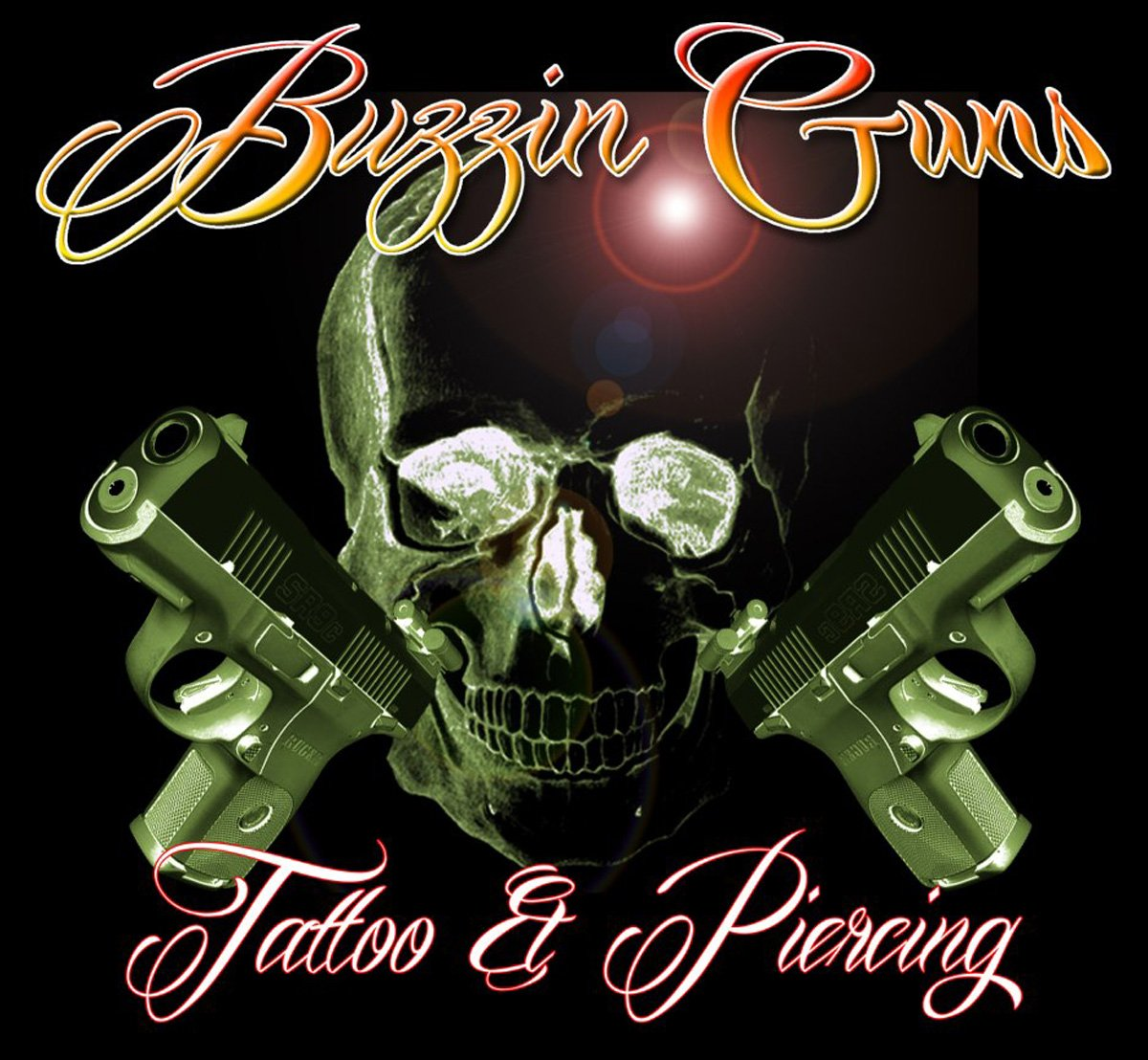 Buzzin Guns Tattoo Studio LOGO