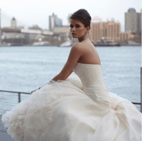 vestito sposa panna