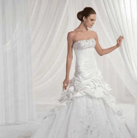 vestito sposa senza spalline