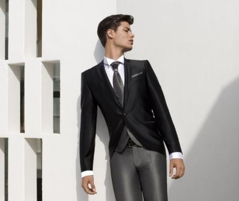 pantalone sposo argento
