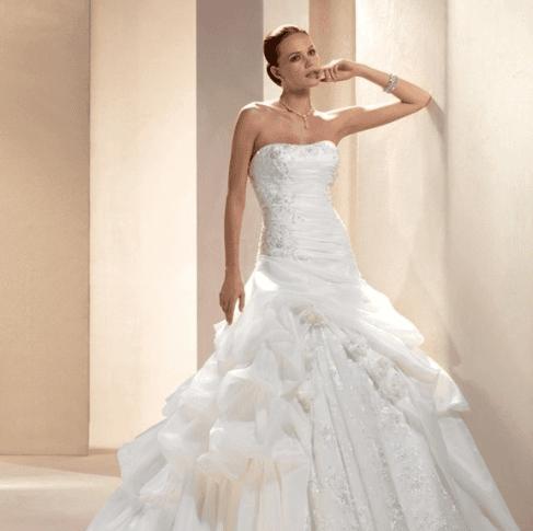 vestito sposa raso