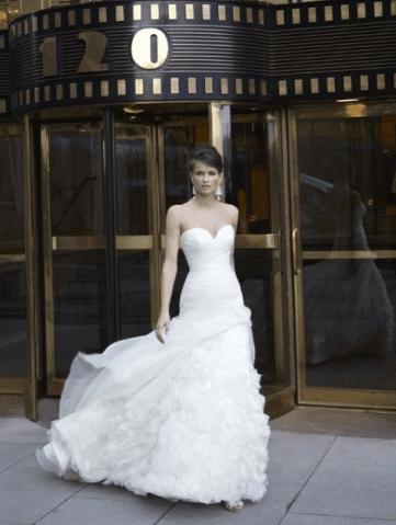 abito sposa a strati
