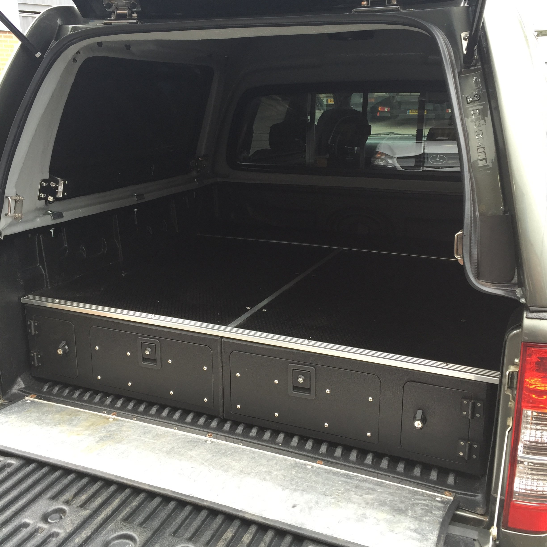 load bed drawer system