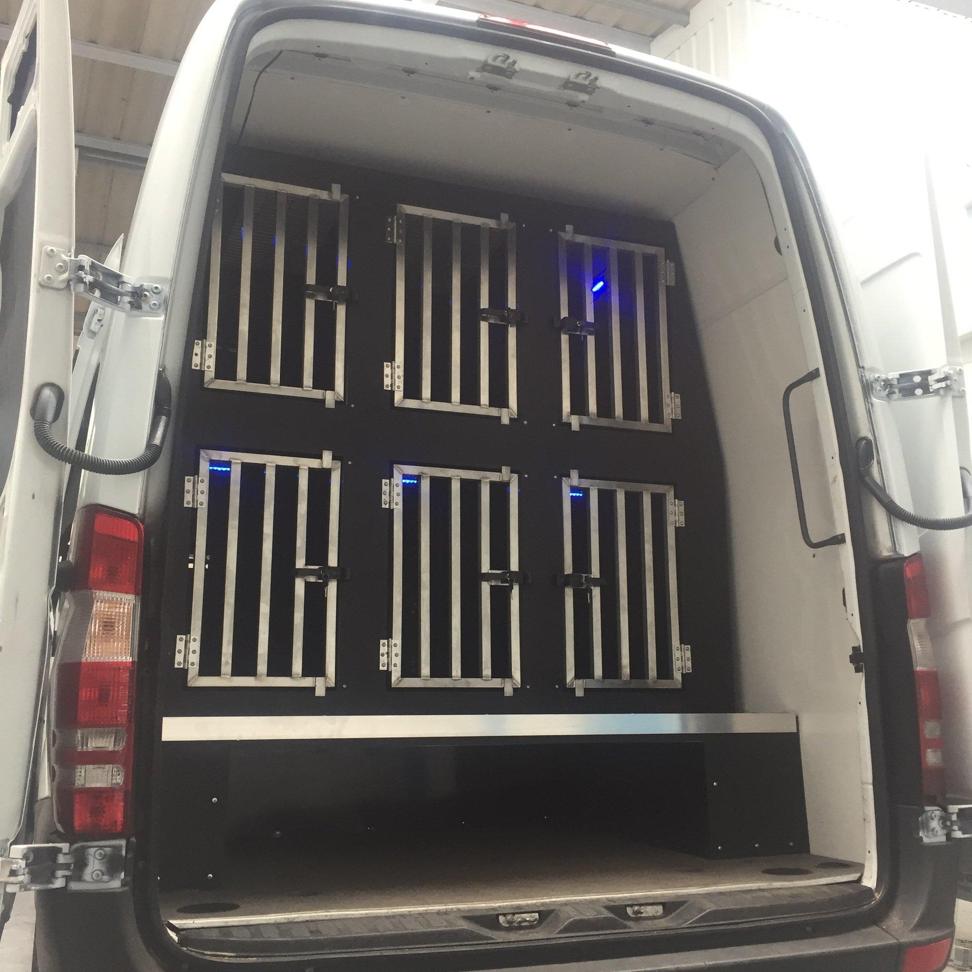 Dog Vehicle, Dog Van Conversion, Dog Unit.
