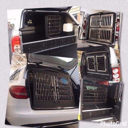 dog transit boxes, dog vehicle conversion, animal transit boxes