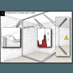 Posizionamento e fissaggio guida a soffitto