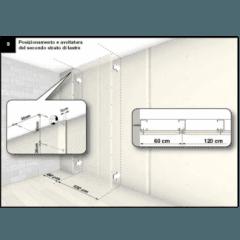 Posizionamento e avvitatura del secondo strato di lastre
