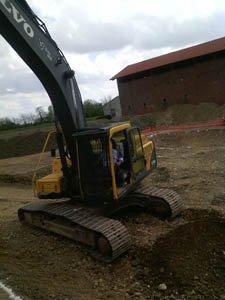Un escavatore