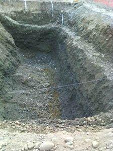 Uno scavo rettangolare