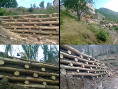 ingegneria naturalistica, costruzione palizzate, palizzate in legno, realizzazioni palizzate genova