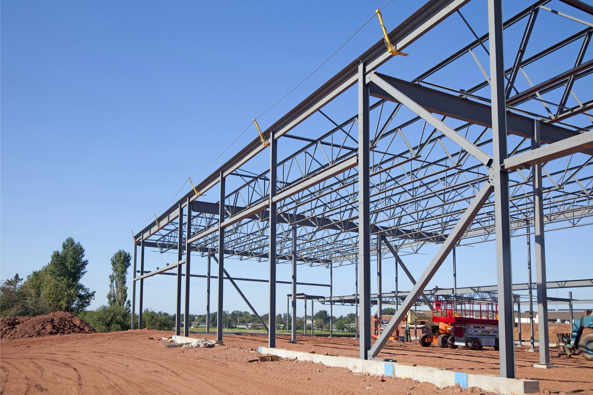 Building steel frame