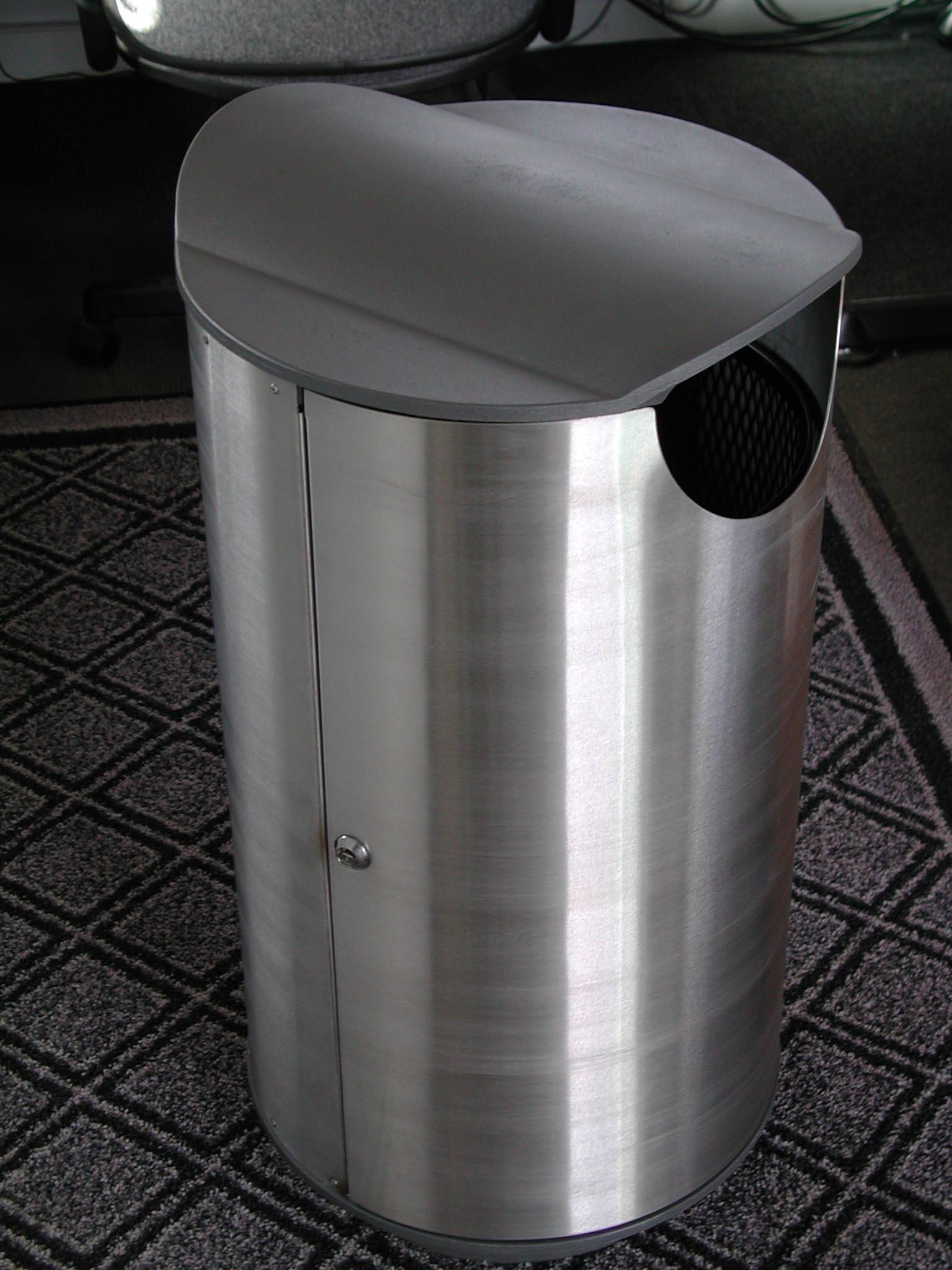 Bespoke stainless steel bin