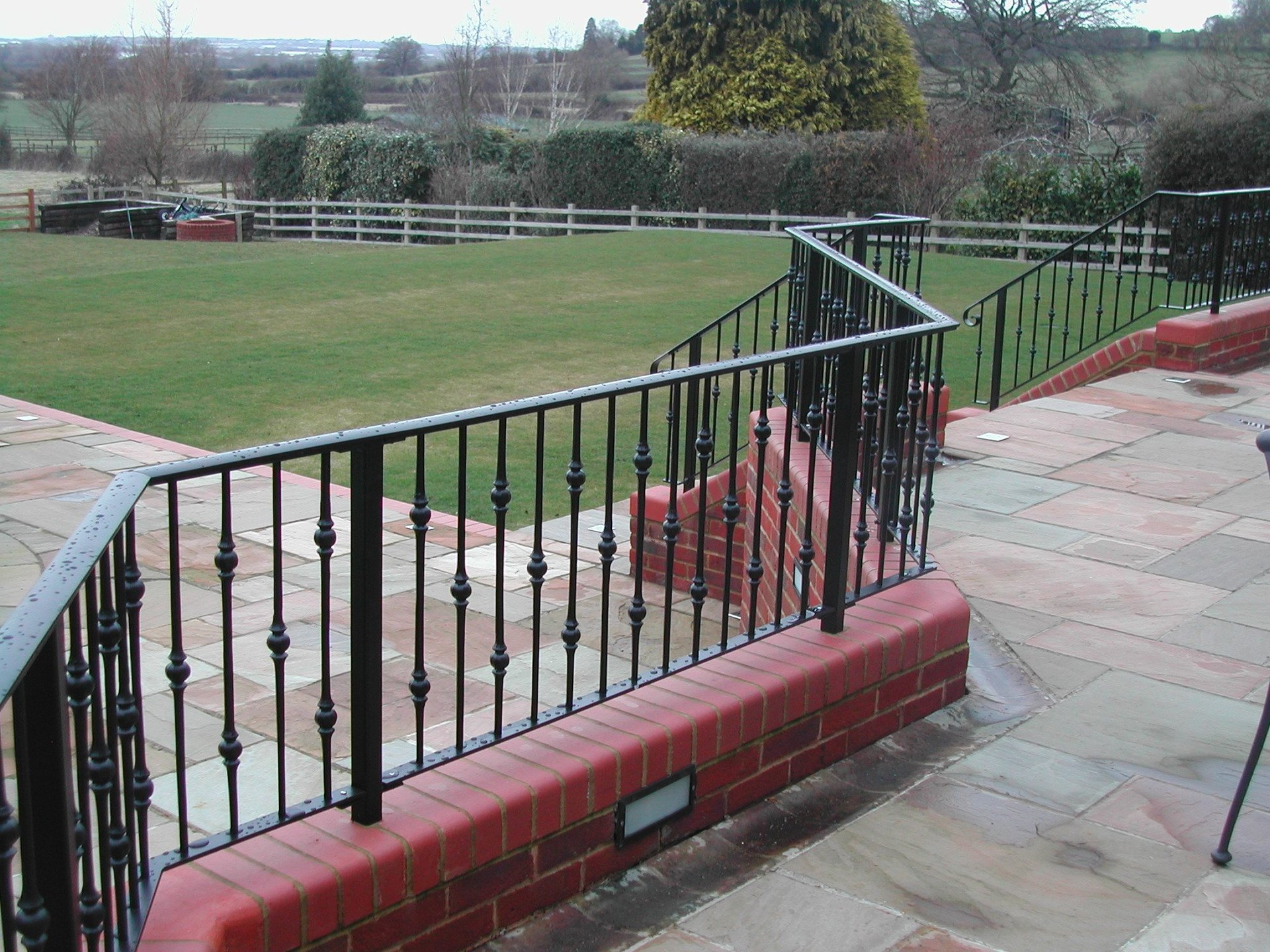 Country house railings