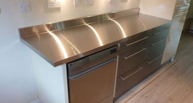 Sheet metal counter top