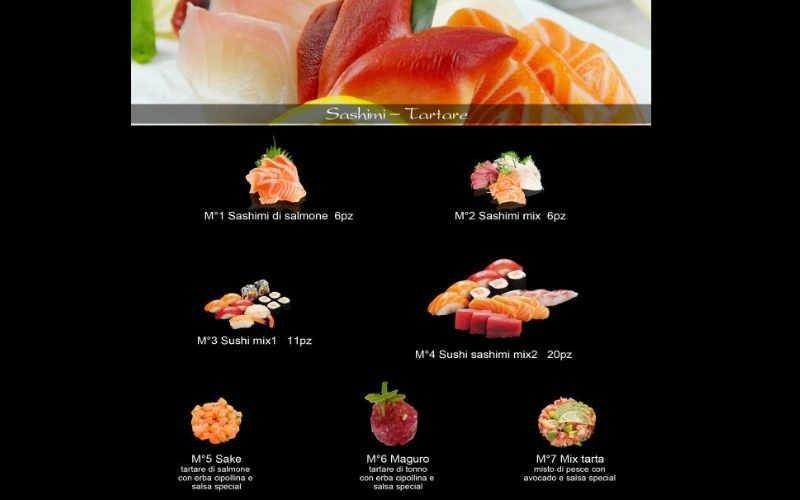 cucina sashimi di salmone
