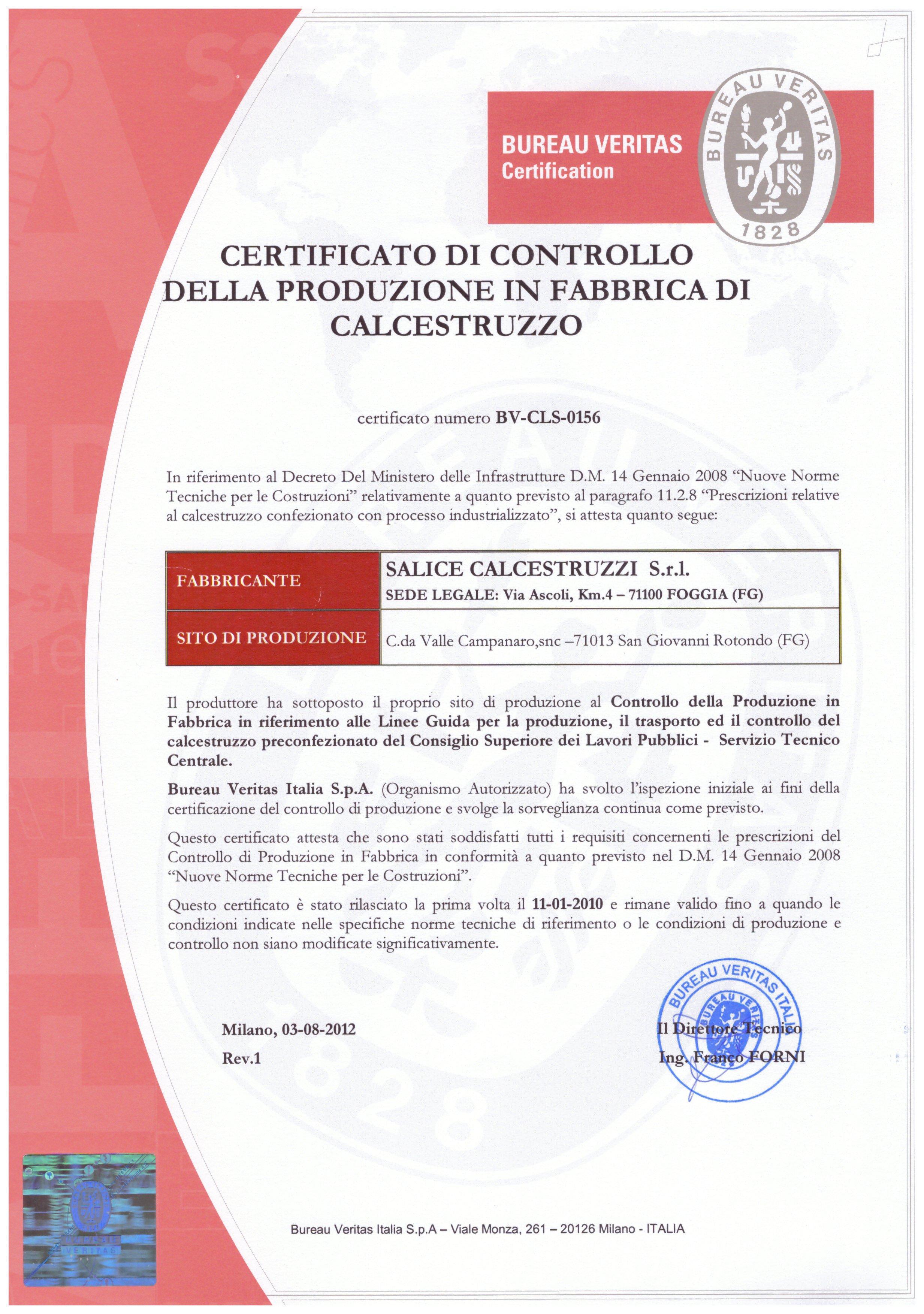 certificato bureau