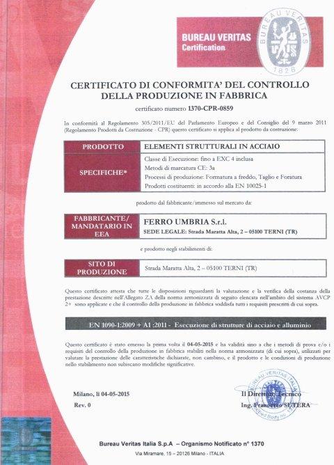 certificazione umbra