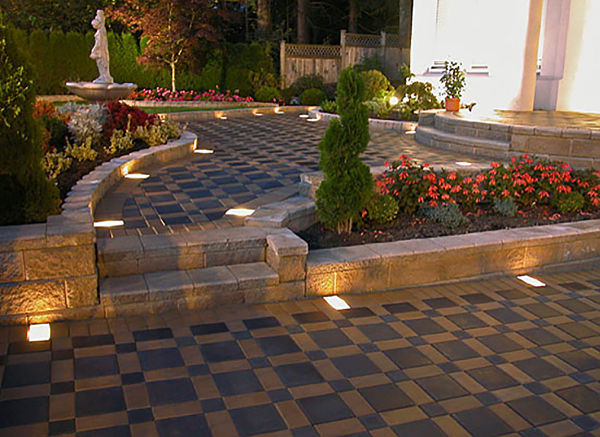 Beautiful walkway made from hydrapressed, architectural slabs.