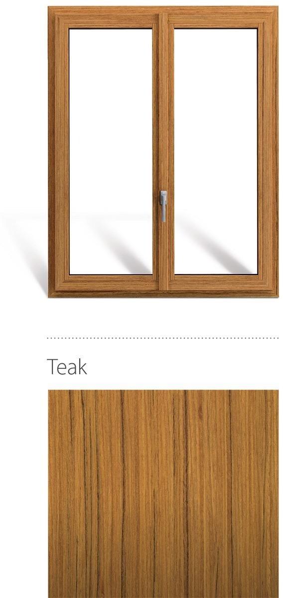 Finestra in legno e pvc linea natura oknoplast colore teak