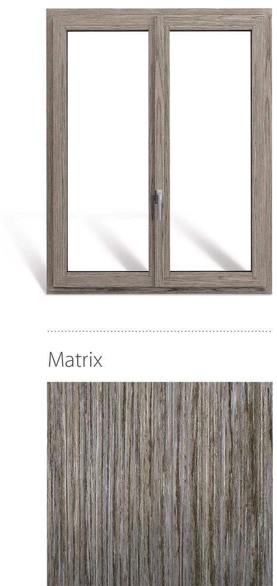 Finestra in legno e pvc linea natura oknoplast colore matrix