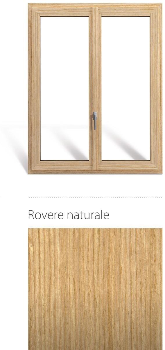 Finestra in legno e pvc linea natura oknoplast colore rovere naturale