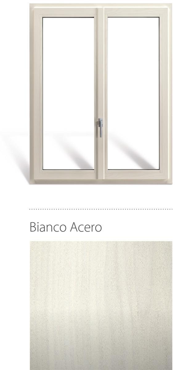 Finestra in legno e pvc linea natura oknoplast colore Bianco acero