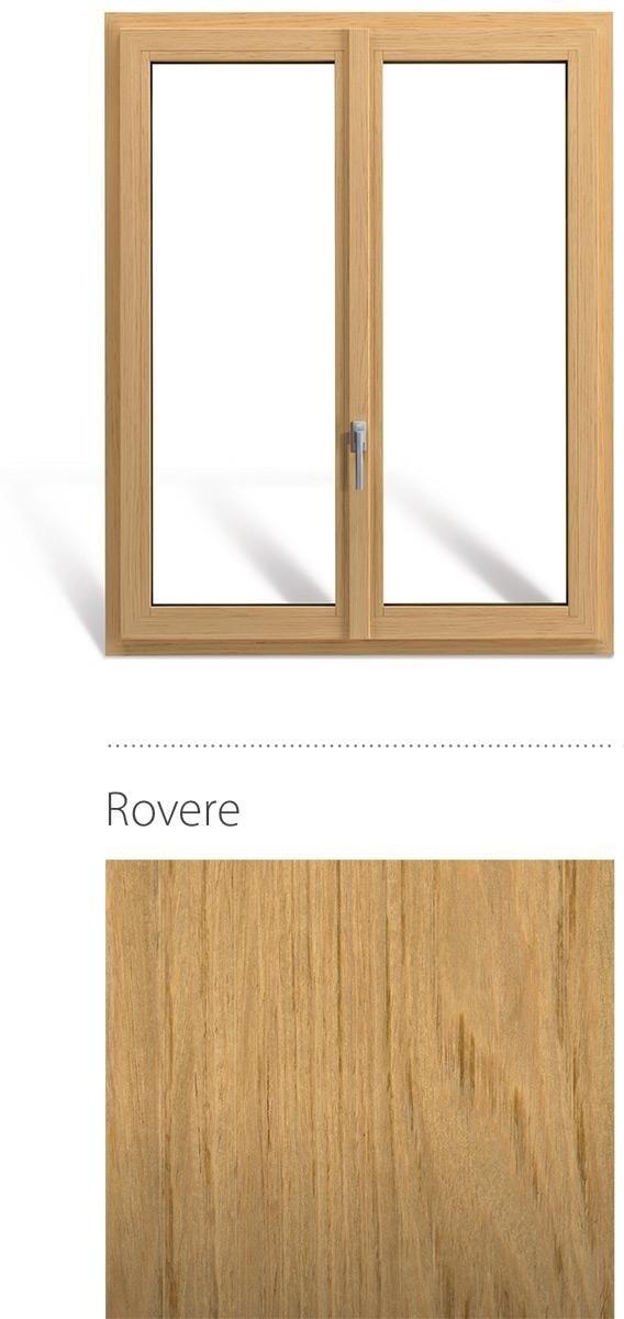 Finestra in legno e pvc linea natura oknoplast colore rovere
