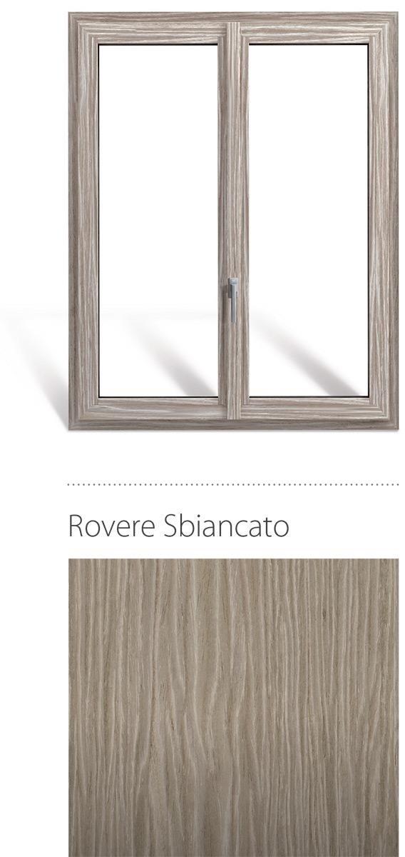 Finestra in legno e pvc linea natura oknoplast colore rovere sbiancato