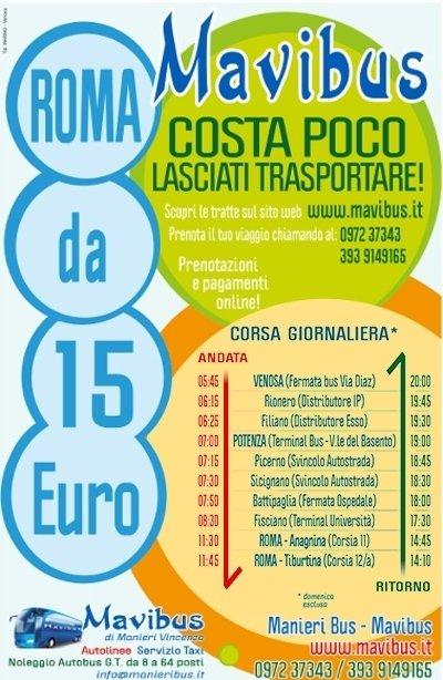 tratta pullman da 15 euro