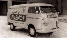 pubblicita' plasmon su furgone