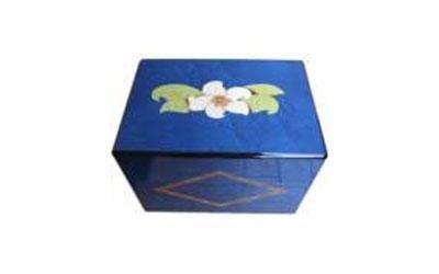 urna legno blu
