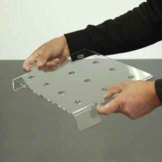 Porta finger food in plexiglass