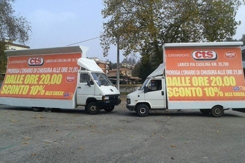 pubblicità su camion