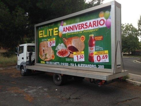 pubblicità itinerante roma