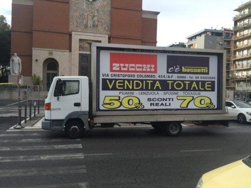 camion vela per pubblicità