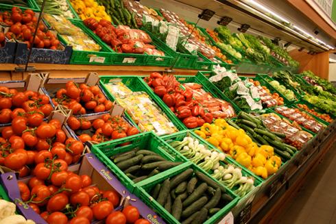 Nel supermercato troverai frutta e verdura di stagione