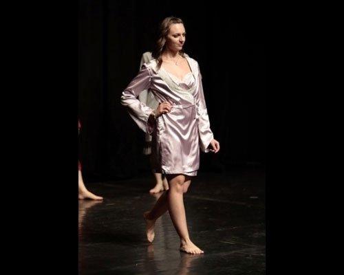 Vestaglia in raso rosa