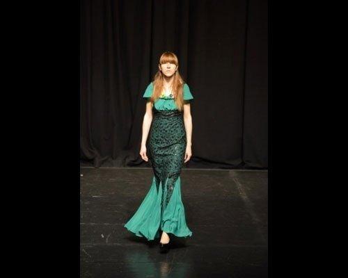 Abito a sirena smeraldo