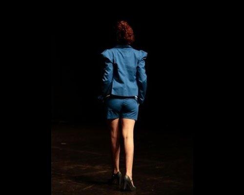 Tailleur pantaloncino blu