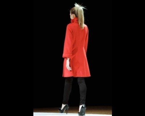 Cappotto collo alto rosso