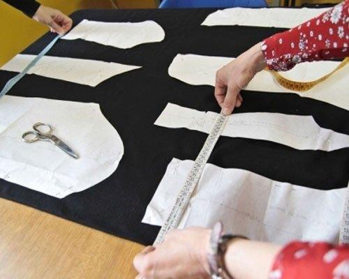 Preparazione modello per giacca