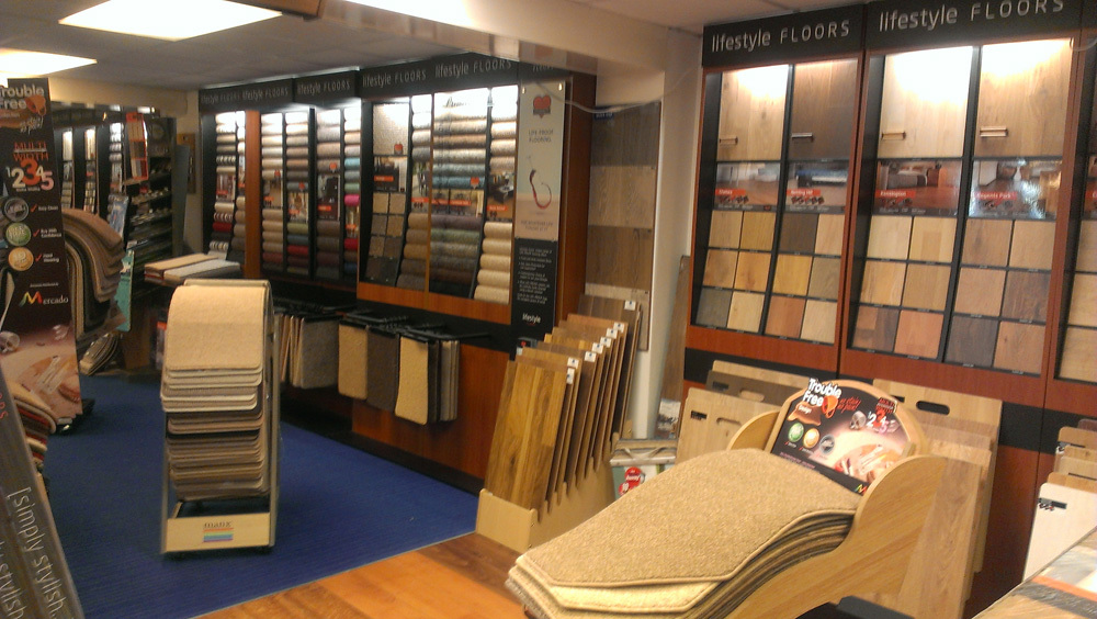 Big selection of carpets