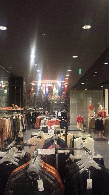 sistema d'illuminazione all'interno del negozio