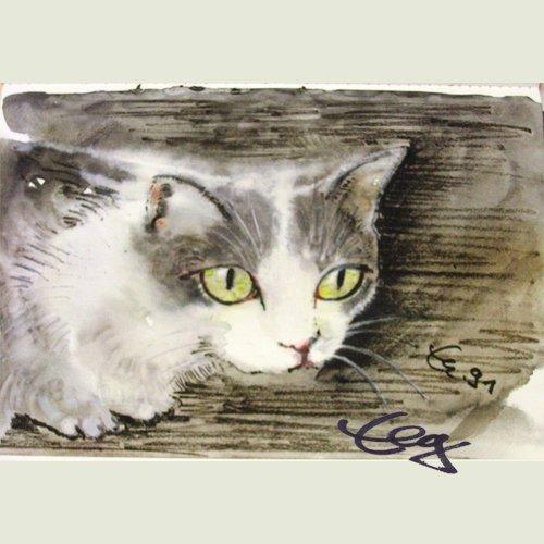 Bild Aquarell Katze Goßner
