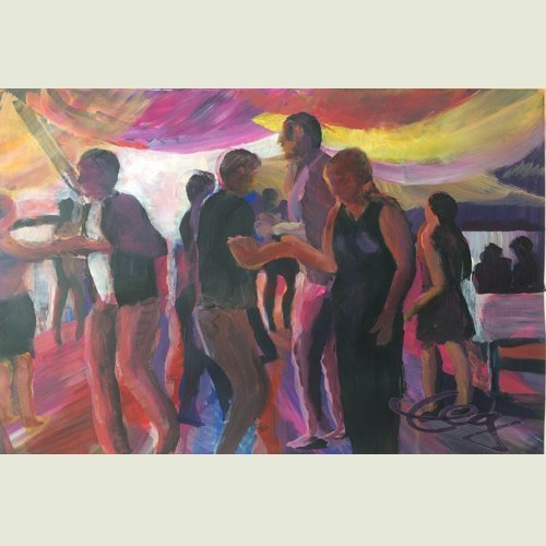 Bild, Öl, Acryl, Leinwand, Karton, Tanz, Bewegung, Elisabeth Ernicke-Goßner